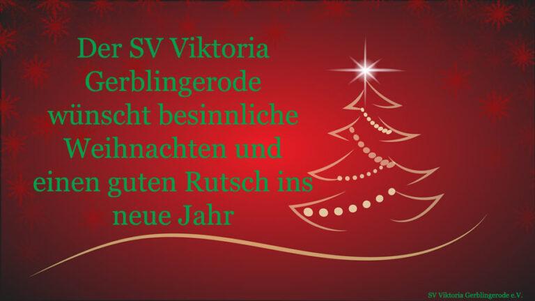 Fröhliche Weihnachten und bleibt gesund!