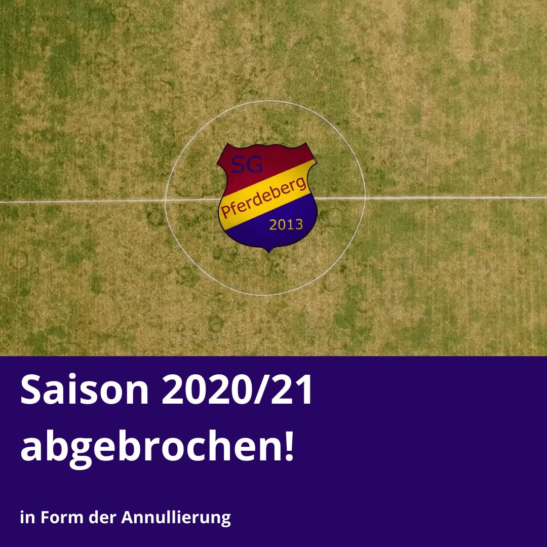 Saison 2020/21 wird annulliert